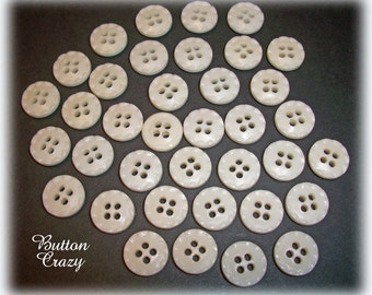 36 Off White 4 Holed Buttons VINTAGE