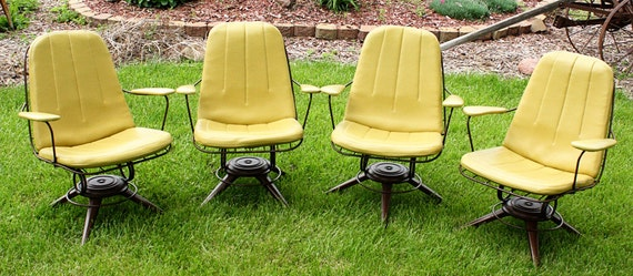 Vintage Homecrest Chairs patio chairs set of 4 Mid