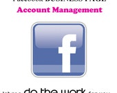 Facebook Business Page MANAGEMENT Services, social media networking