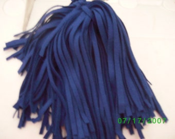 100  Mill Dyed Wool Rug Hooking Strips Primitive Blue
