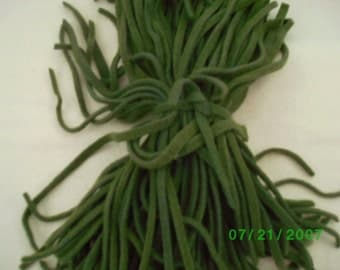 80 Hand Dyed Wool Rug Hooking Strips  Pea Pod Green