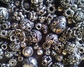 Sterling Silver Bali Beads 50 grams