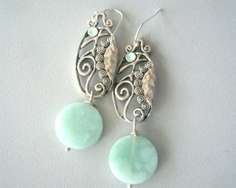 Spring mint earrings
