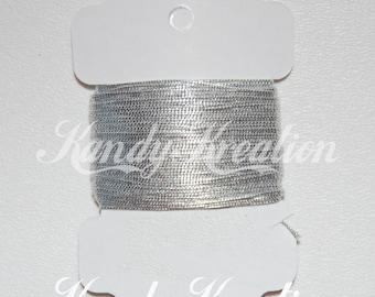 20 yards SILVER Elastic .75mm String Cording for kandi raver bracelet kids crafts jewelry pony beads Kandy Rave beading necklaces bracelets