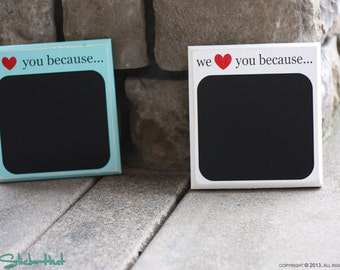 I or We Love You Because Quote Saying Distressed Sign