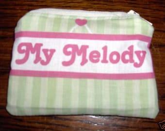 My Melody handmade zipper fabric coin change purse card holder
