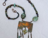 Southwestern Copper and Turquoise Necklace