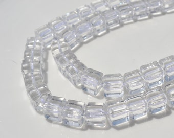 Rock Crystal Cube Beads   10