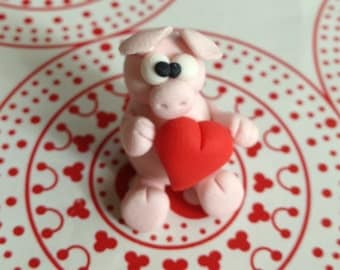 Mister Pinky Pig (Maialino Rosa) - A Little Polymer Clay creation - No.2