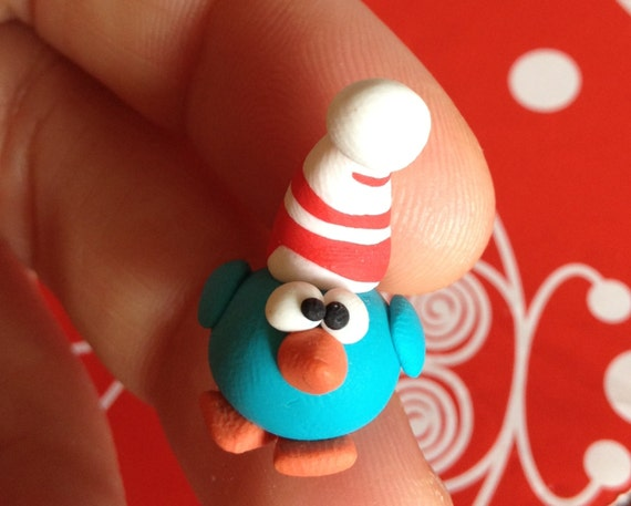 A  Nice Little Christmas Bird (Un simpatico uccellino di Natale) - A Little Polymer Clay Creation by bdbworld on Etsy - No 20