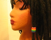 Dreadlocks  Bead Rainbow Bead You Choose Hole Size