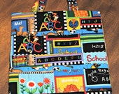 Craft Crayon Bag in Back to School Blocks
