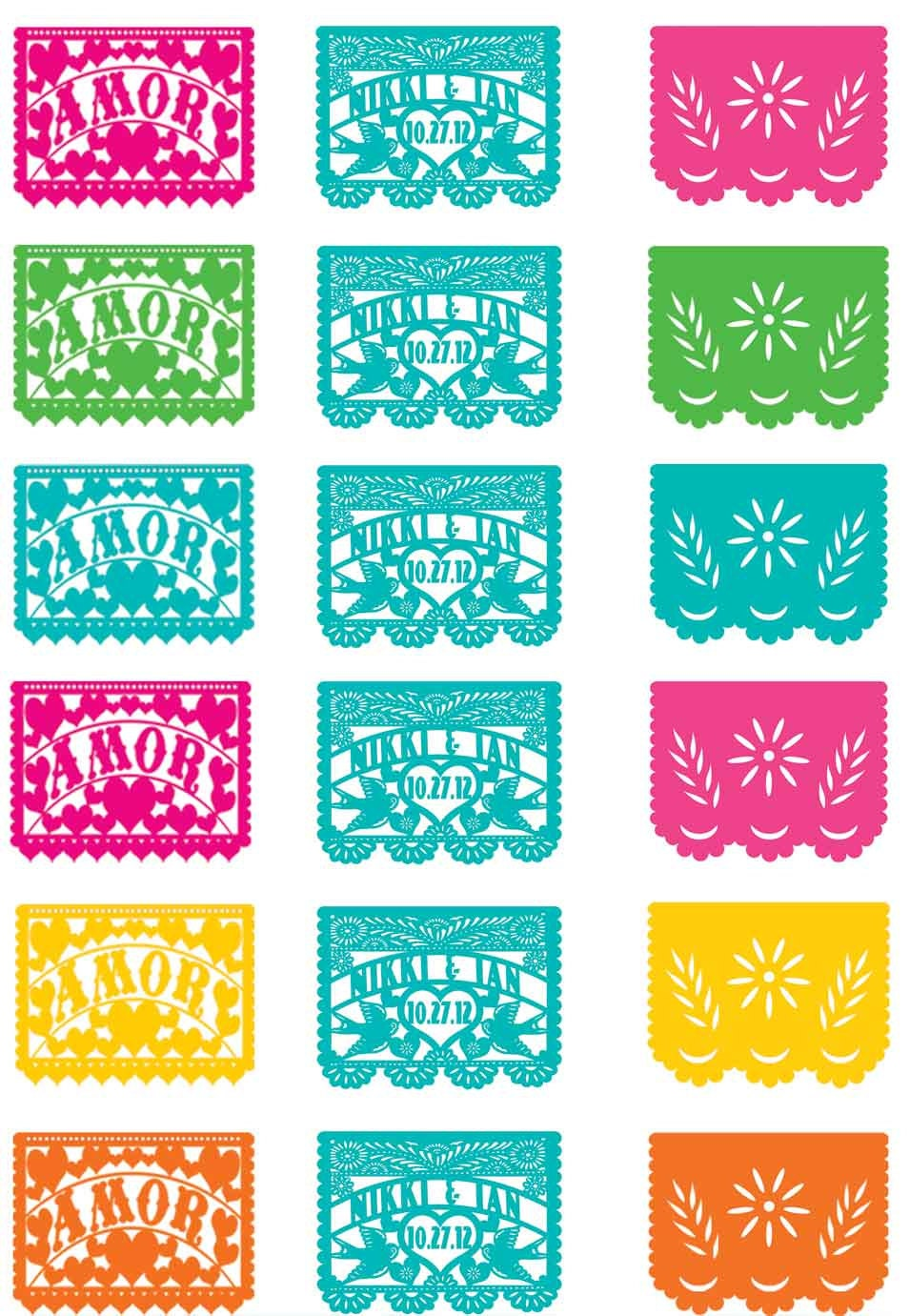 This is a photo of Striking Papel Picado Templates Printable