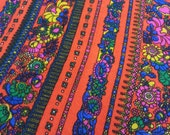 four yards vintage psychedelic ameritex fabric