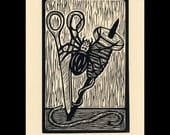 Spider woodcut limited edition Arcanum Bestiarum bestiary print