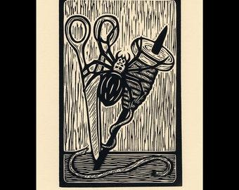 Spider woodcut limited edition Arcanum Bestiarum bestiary print