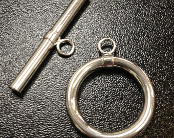 Sterling Silver 20mm Toggle Clasp