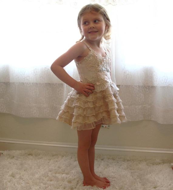 Sweetness - Mini Claire La Faye Slip dress for toddler girl size 3, ruffled, lace, decadent, bohemian, princess