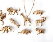 Gold Giraffe Necklace Charm