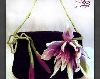 FT018 Clutch Felted,Clutch, drops bag  type living bag handbag bag silk felted wool Merino