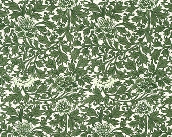 Made In Italy Authentic Florentine Paper Green Floral Tassotti  T534GR