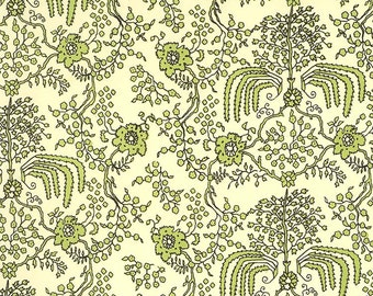 Made In Italy Authentic Florentine Paper By Carta Varese Green Floral  V811G