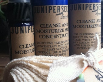 Organic Unbleached Flannel Baby Wipes Starter Set -  Cleanse and Moisturize Mist for Baby - Ecofriendly Alternative to Baby Wipes