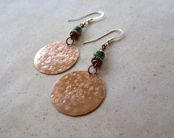 Shiny Copper Turquoise Earrings