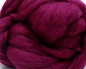 4 oz. Merino Wool Top - Burmese Ruby - FREE SHIPPING