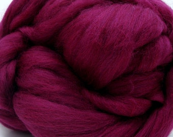 4 oz. Merino Wool Top - Burmese Ruby - FREE SHIPPING