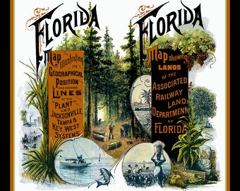 Florida Railroad Refrigerator Magnet - free US shipping