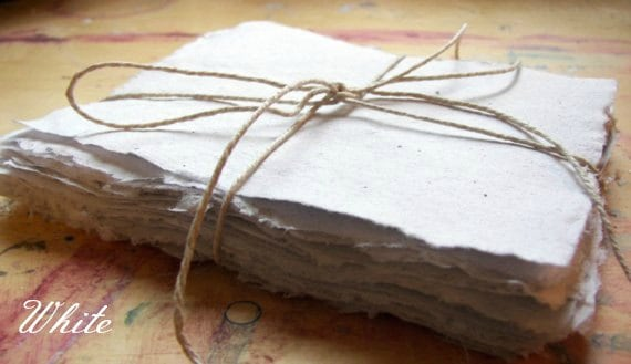 10 Sheets 5x7 Inch Handmade Paper Recycled Paper Eco