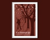 Movie poster It's a Wonderful Life 12x18 inches retro print