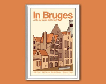 Movie poster retro print In Bruges 12x18 inches