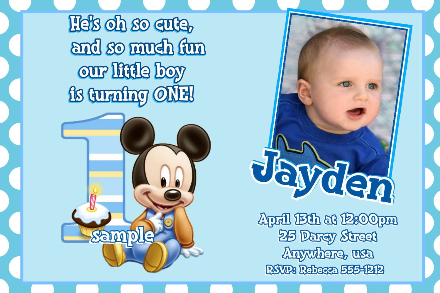 Best 25 Mickey Mouse Invitation Ideas Minnie 1st Birthday Personalized Invitations Inspirational