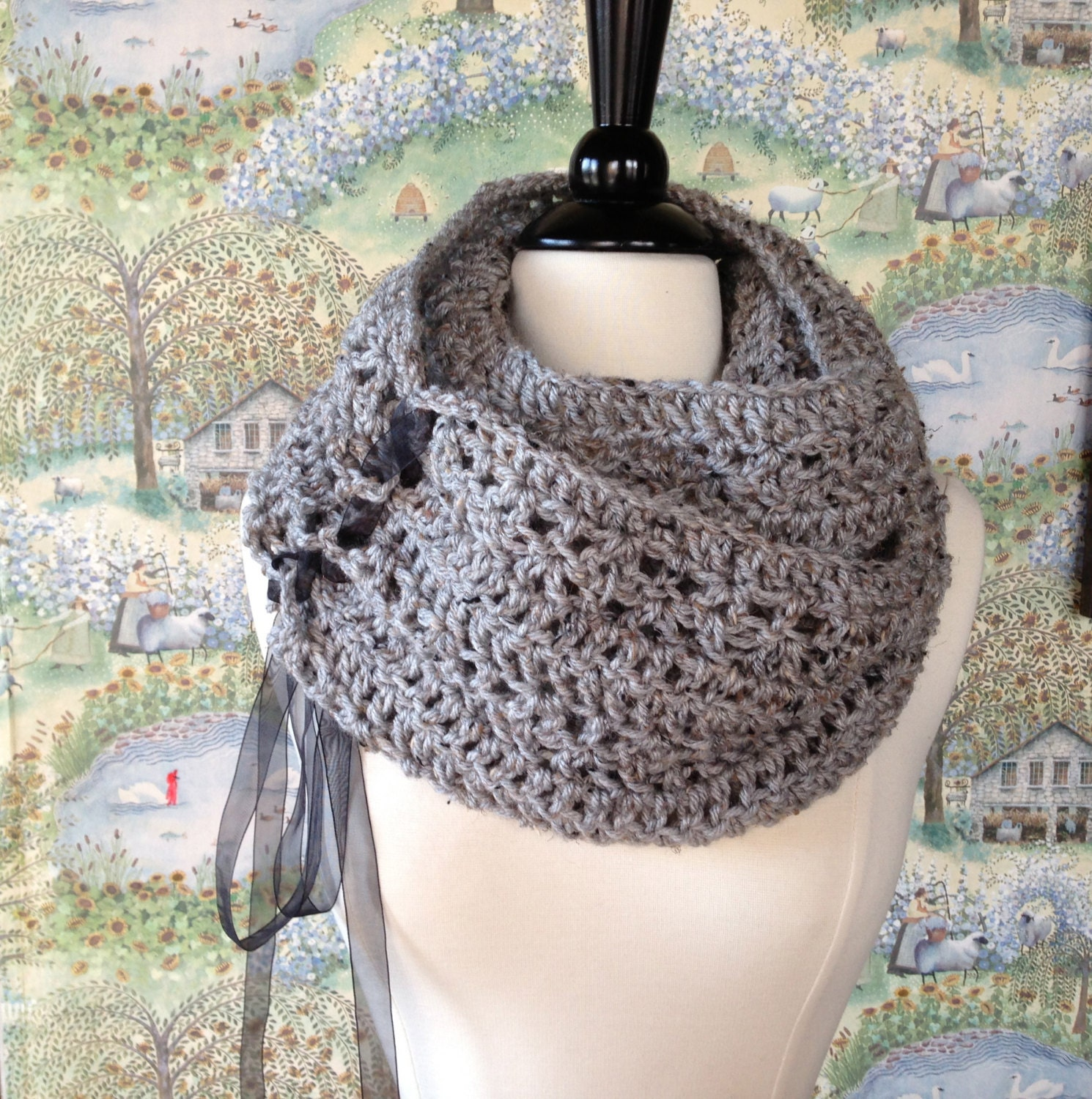 Trinity scarf crochet pattern diy scarf or oversized chunky cowl trinity scarf crochet pattern diy scarf or oversized chunky cowl bankloansurffo Image collections