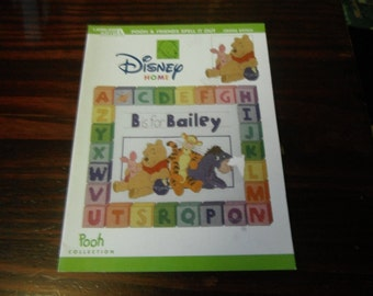 Counted Cross Stitch Charts Pooh and Friends Spell it Out Leisure Arts 3708 Disney Counted Cross Stitch Leaflet