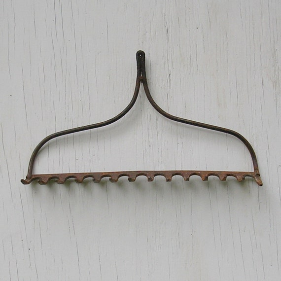 antique vintage iron rake rake primitive