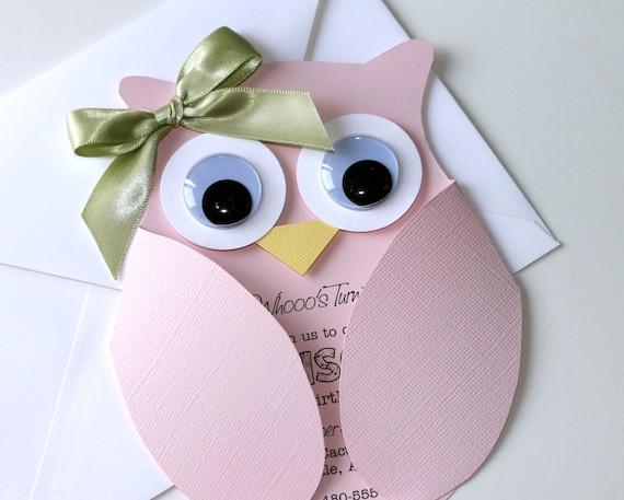 Items similar to 25 fancy owl custom birthday for Etsy owl wedding invitations