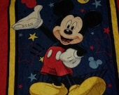 Mickey Mouse Quilt  with name on hand