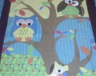 Owls in a Tree reversible Quilt