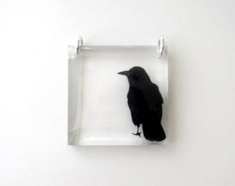 Square Crow Pendant (Chain Sold Separately)