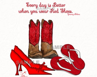 Gallery Wrap Canvas - Every Day is better when you wear RED SHOES