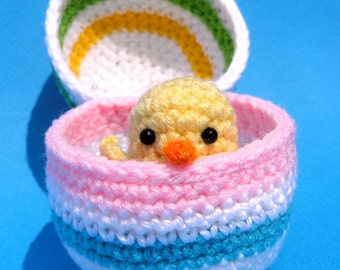 PDF CROCHET PATTERN Easter Chick in Egg