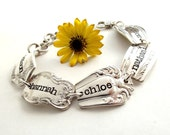 PersonaliZed 3 - 5 Spoon Ends Family Silverware Bracelet-Silverware Jewelry - Mothers Day