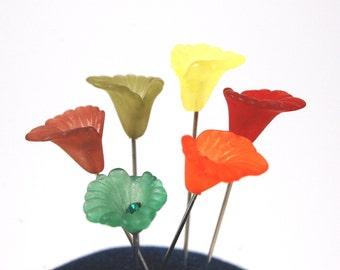 Calla Sewing Pins - Set of 6 medium long
