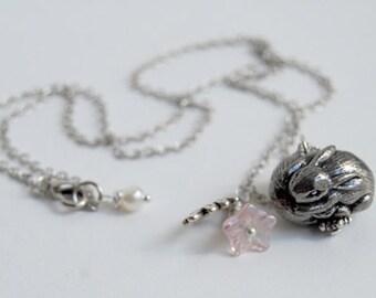 Infinity Bunny Necklace