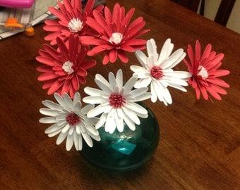 Gerber daisies, set of 6 ~ paper flowers, artificial flowers