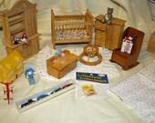 Destash Dollhouse/Miniature Baby Room Lot 115
