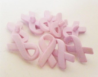 Pink Ribbon Buttons by Buttons Galore